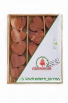 Swedish Red Cedar Wood™ Hearts 15pcs